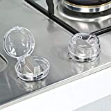 Weesey 6Pcs Clear Stove Knob Safety Covers Child Safety Guards Heat Resistant Child Proof Lock for Oven/Stove Top/Gas Range