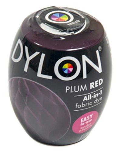 Dylon Machine Dye Pod Box of 3 Plum Red, 25 x 10 x 4 cm