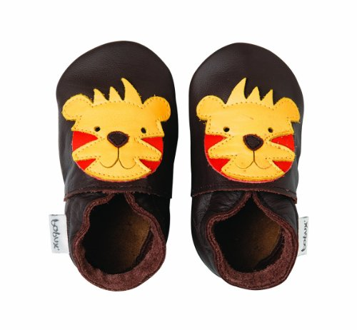Bobux Chaussons mixte bb - Tiger Chocolate - Taille M