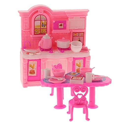 Muebles del Dollhouse de los Muebles del Dollhouse 1/12 Cocina Comedor Accesorio para muñeca de Juguete Kelly muñecas 1 Juego de Regalo para los niños