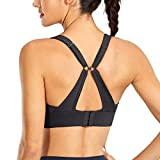CRZ YOGA High Impact Convertible Racerback Sports Bra for Woman Padded Wirefree Workout Bra Tops Black - New Medium