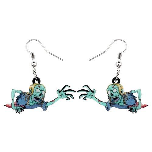 NOBRAND Pendientes De Mujer Pendientes De Acrílico De La Novedad Que Se Arrastran Pendientes del Zombi Drop Dangle Fashion Festival Jewelry