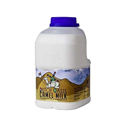 Oasismilk Roh und Frische Kamelmilch, 14 X halbe liter Flasche 500ml aus die Niederlande, 100% Kuhmilch-Protein-frei