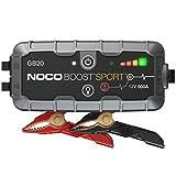 NOCO Boost Sport GB20, Arrancador de Batería UltraSafe 500A 12V, Cargador de Booster Profesional y Cables de Arranque de Coche por Gasolina de hasta 4 Litros
