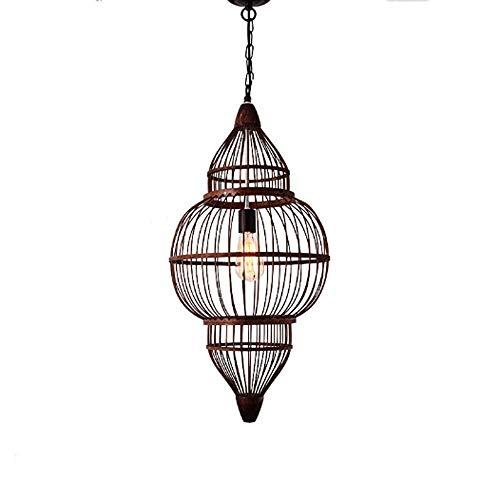 LHTCZZB Luz pendiente de la lámpara de bambú que teje creativo de bambú verde de la lámpara Tea Room finca de café Cuelgue Lamp Hotel sala de exhibición de la decoración de la lámpara
