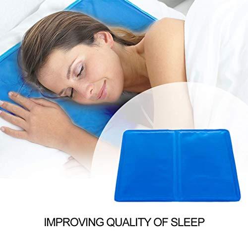 Almohada de gel fría multifuncional, almohadilla de cama fría, confort natural, comodidad para dormir, ayuda a mejorar la calidad del sueño y la temperatura óptima para dormir