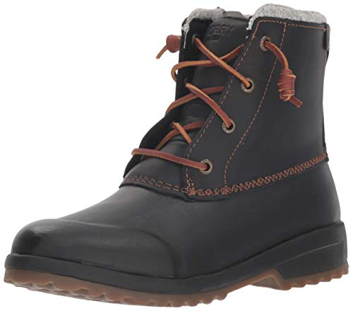 Sperry Womens Maritime Repel Boots, Black, 8.5