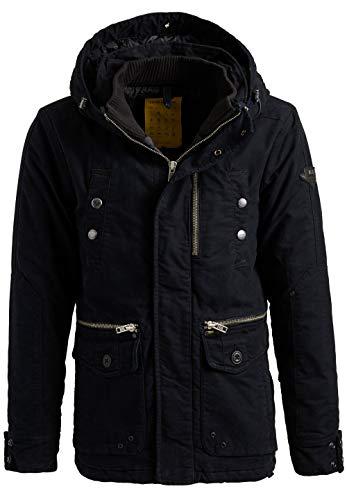 khujo Herren Jacke PEYO warme und robuste Winterjacke mit Kapuze und vielen Taschen