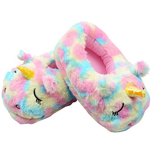 Holibanna Pantofole Peluche Pantofole da Casa Sfocate Unicorno per Donna Uomo Coppia 1 Paio