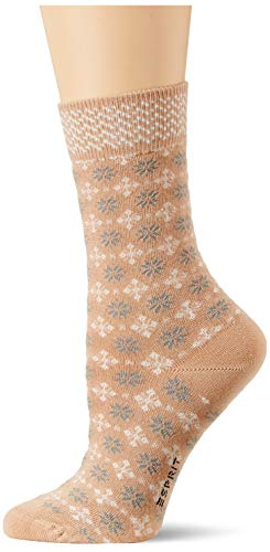 ESPRIT Damen Norwegian W SO Socken, braun (camel 5038), 39-42 (UK 5.5-8 Ι US 8-10.5)