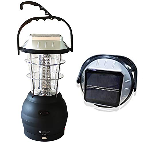 GOODGOODS LEDランタン ソーラー 充電式 60灯 懐中電灯 手回しダイナモ充電 5way充電 3段階切り替え キャンプ 夜釣り 防災 停電に LS60