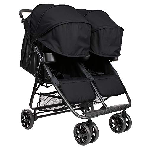 The Twin+ (Zoe XL2) - Best Double Stroller - Everyday Twin Stroller with...