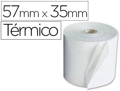 Sin Marca - Rollo sumadora q-connect termico 57 mm ancho x 35mm diametro para maquinas terminal punto de venta (10 unidades) ✅