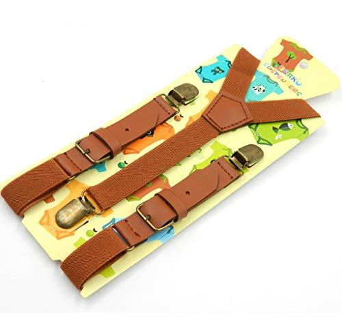 Yuyudou bretels voor kinderen, met 3 clips van metaal, verstelbaar, elastisch