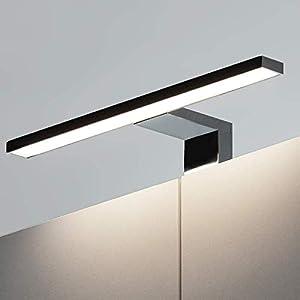 Lámpara LED de pared moderna Anita 5 W, 30 cm, iluminación de espejo, 4000 L, luz blanca neutra sobre el espejo