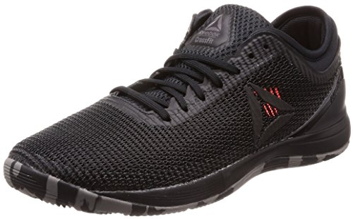 Reebok R Crossfit Nano 8.0 Zapatillas de Entrenamiento Hombre, Negro (Black/Shark/Atomic Red 0), 39 EU (6 UK)