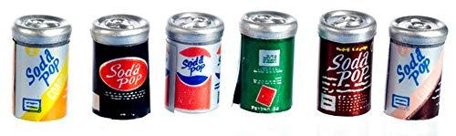 Melody Jane Maison de Poupées Miniature Accessoire Pub 6 Soda Pop Cans 512