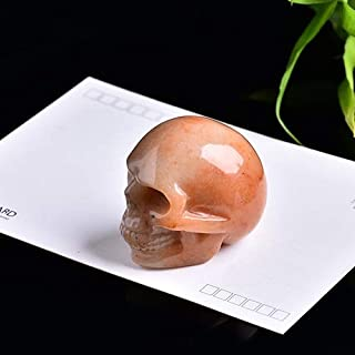 LKSPD 1 PC crystal Gemstone skull natural crystal decoration home decor stones and crystals wicca healing minerales DIY gi...