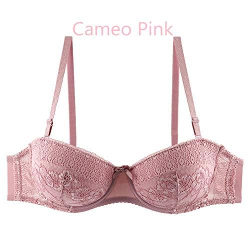 YUANCHNG Ladies Secret Demi Balcón Sujetador para Mujer Bralette de algodón de Encaje con Aros