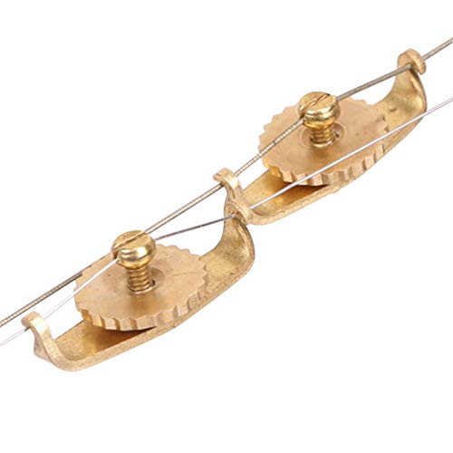 Yangxue Urheen Stimmwirbel 2 Stück Feinstimminstrument Erhu Trimmer Zubehör Kupfer GH-Grade Saite Praktisch Professionell Leicht Tragbarer Ersatz