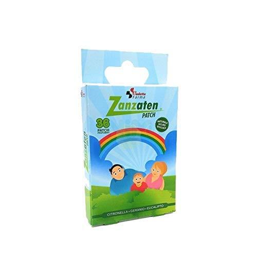 Cerotto Repellente Anti Zanzare ed Insetti, a Base di Citronella, Geranio, Eucalipto, Confezione 36 Patch