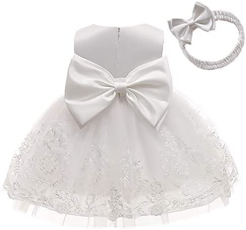 Christening Embroidery Lace Birthday Christmas Easter Flower Baby Girl Dress Princess Formal product image