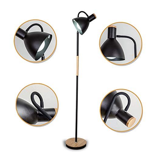 QTDH Moderne verstelbare Arc vloerlamp Nordic Torchiere LED Goosenhoek staan vloerlicht hoge paal-leeslamp voor slaapkamer, studiekamer, kantoor
