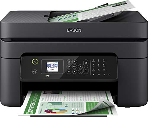 Epson WorkForce WF-2830DWF 4-in1-Tintenstrahl-Multifunktionsgerät, Drucker (Scannen, Kopieren, Fax, WiFi, ADF, Duplex, Einzelpatronen, DIN A4) Amazon Dash Replenishment, schwarz