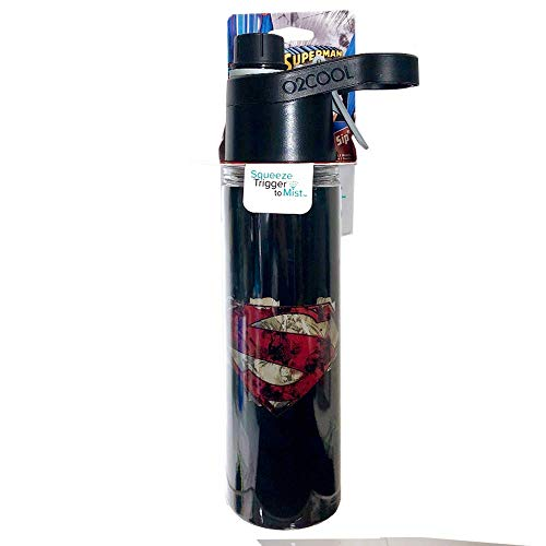 Water Bottle O2COOL Cool by Design 20 oz. Squeeze Trigger to Mist Superman