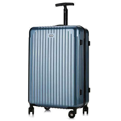 JYKING Hartschalen Trolley Koffer Hartschale Reisekoffer Leichtgewicht ABS Hartschale 4 Rollen Trolley Koffer Reisekoffer Eisblau 55 * 36 * 22CM