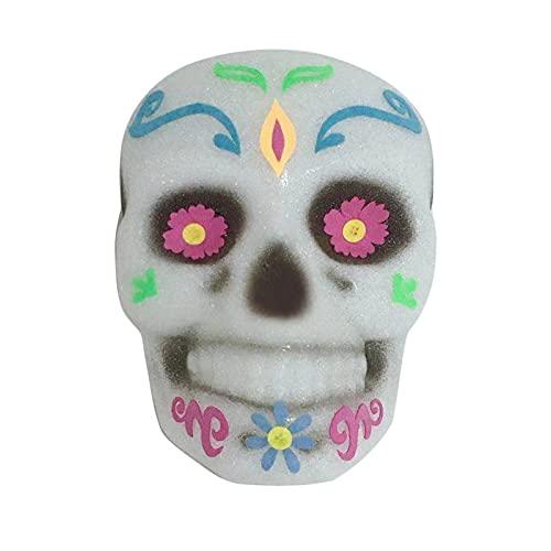 LUBINGT Horror Wreath for Front Door Halloween Fantasma Festival Pantalla Puerta Cuelga Eva Skeleton Lámpara de Pared Colgante Holiday DIY Decoraciones Festivales Accesorios (Color : A)