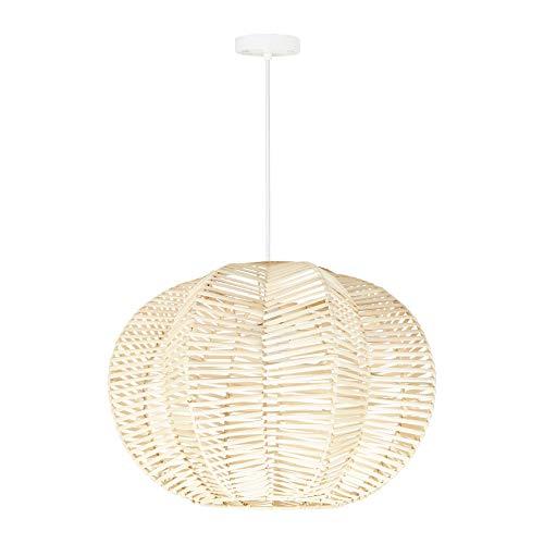 LUM&CO Lámpara suspensión con Forma de Flor de ratán, Natural