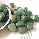 YSJJNDH Piedras de Chakra de Cuarzo caído Verde aventurina Piedra Acuario jardín Maceta (Color : Around20-30mm, Size : 300g)