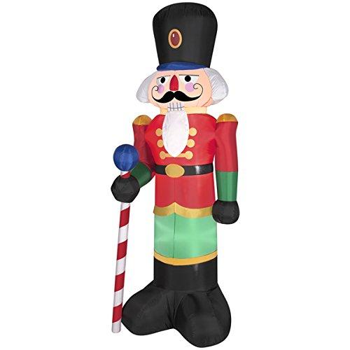 Gemmy Industries Airblown Nutcracker Christmas Decoration Multicolored Nylon 24.21 in. x 16.34
