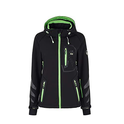 Geographical Norway Damen Softshell Funktions Outdoor Regen Jacke Sport [GN-Thea-Schwarz-Gr.L]