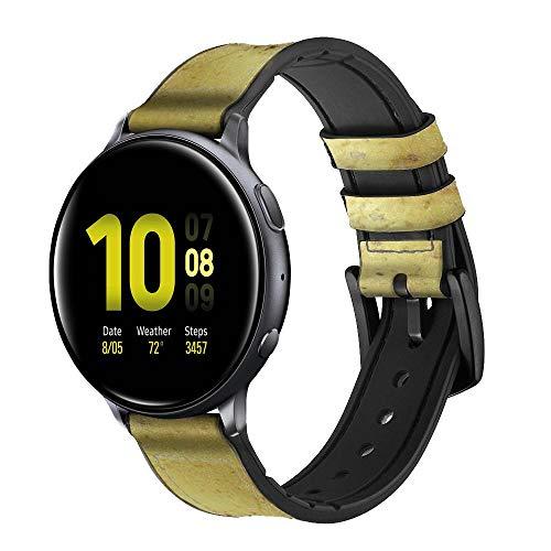Innovedesire Potato Correa de Reloj Inteligente de Cuero y Silicona para Samsung Galaxy Watch, Watch3 Active, Active2, Gear Sport, Gear S2 Classic Tamaño (20mm)