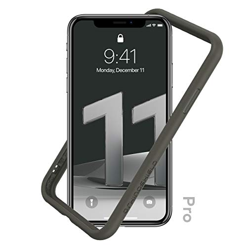 RhinoShield Bumper Case Compatible with [iPhone 11 Pro] | CrashGuard NX - Shock Absorbent Slim Design Protective Cover 3.5M / 11ft Drop Protection - Graphite