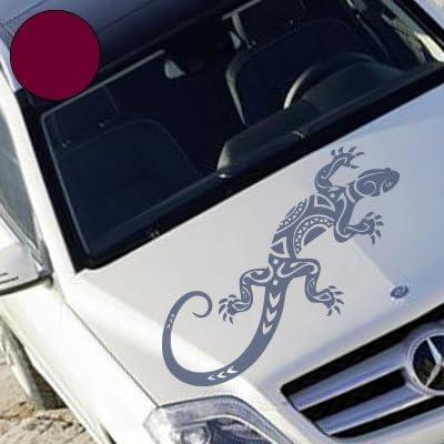 A728 Autoaufkleber Abstrakt Gekko 60cm X 25cm Schwarz Erh In 49 Farben Und 4 Größen Auto