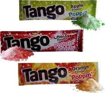 Unbekannt Packung mit 40 Stück Popping Candy in DREI Geschmacksrichtungen, Apfel Orange und Kirsche
