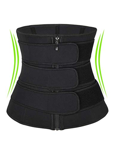 coastal rose Waist Trainer for Women Plus Size Tummy Control Waist Cincher Trimmer Postpartum Belly Band Black 3XL