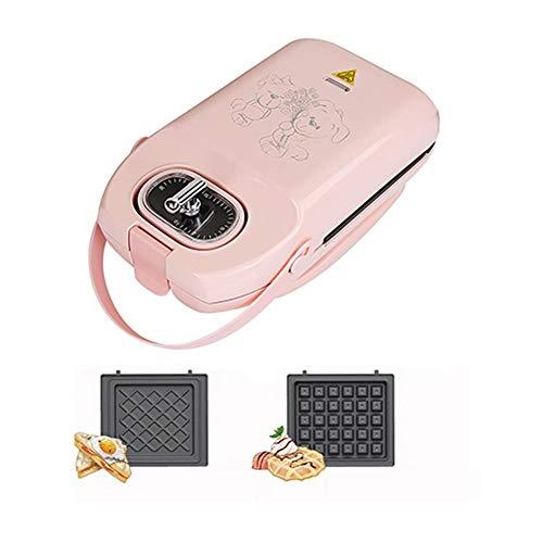 FOUWE Waffeleisen Multifunktions-Frühstücksknopf Timing Fixschnalle 3 Minuten schnell und effizient 650W