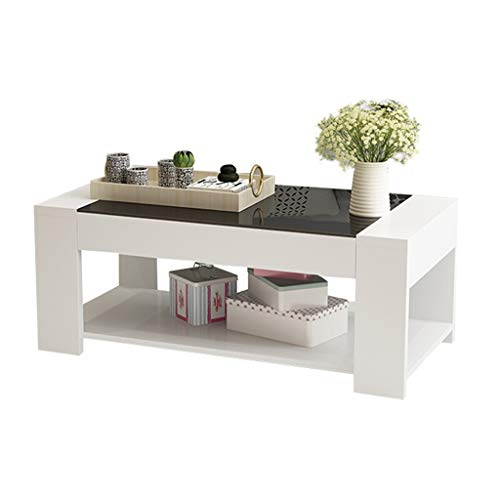 zlw-shop Sofa Table for Living Room Modern Minimalist Long Tempered Glass Coffee Table Home Office Dining Table Coffee Table End Table (Color : B)