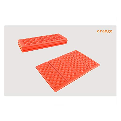 Außenmatte Faltkissen Outdoor XPE Schaum Picknick Matte wasserdichte Kühle Tragbare Pad Camping Light Wanderpark Match Matten Tragbare Campingmatte (Color : Orange)