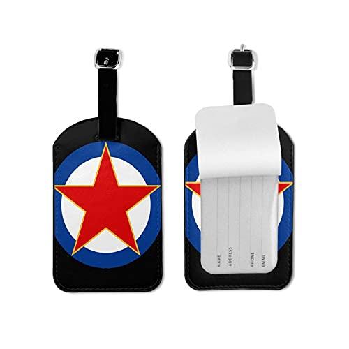Etiquetas para equipaje de viaje Yugoslavia para viajeros inteligentes, lo mejor para evitar la pérdida de bolsas y maletas, piel sintética de microfibra de 2.7 x 4.3 pulgadas