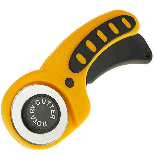 PrimeMatik - Cúter rotativo con cuchilla circular de 45 mm. Cortador giratorio para telas y papel