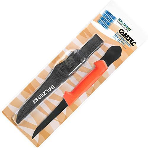 Balzer Filetiermesser 12cm Klinge mit Ausschaber - Angelmesser zum Filetieren von Fischen, Filiermesser für Raubfische & Meeresfische, Messer zum Angeln