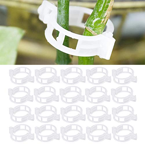 Lifreer 200PCS Garden Plant Clips Trellis Tomato Plant Clips Cucumber Plant Support Sticks Connects Plants Vines Clip