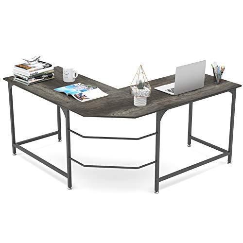 Elephance 59' Large L Shaped Desk Corner Computer Desk Gaming Table Workstation for Home Office
