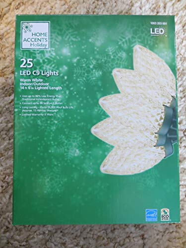 Home Accents Holiday LED C9 25 Warm White Strawberry 14'6' (Warm White)
