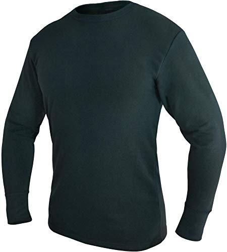 normani Bundeswehr Thermohemd Unterhemd Langarm mit Innenfrottee Farbe Black Größe 8